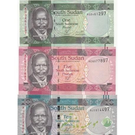 ست اسکناس سودان جنوبی