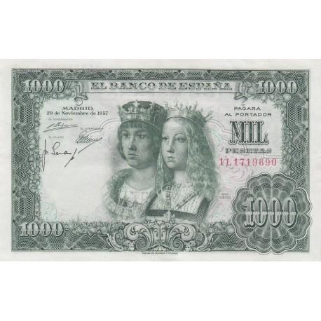 1000 پزو اسپانیا 1957 (فوق العاده تمیز)