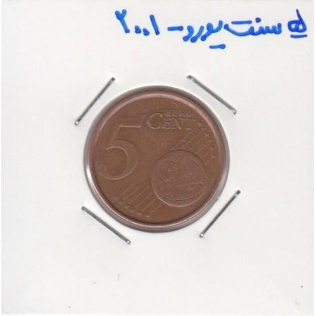5 سنت یورو 2001