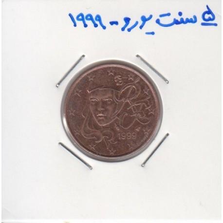 5 سنت یورو 1999