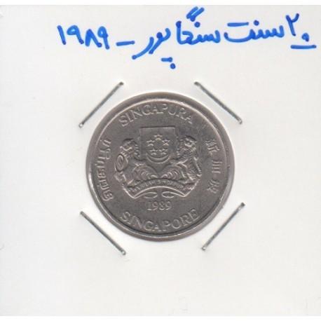 20 سنت سنگاپور 1989