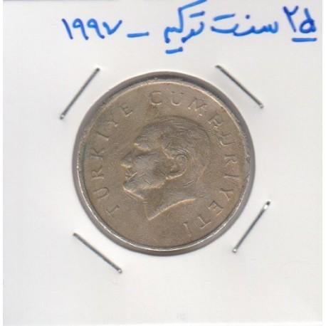 25 سنت ترکیه 1997