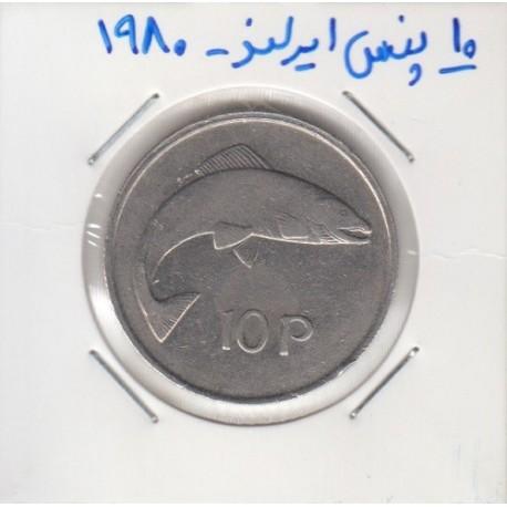 10 پنس ایرلند 1980