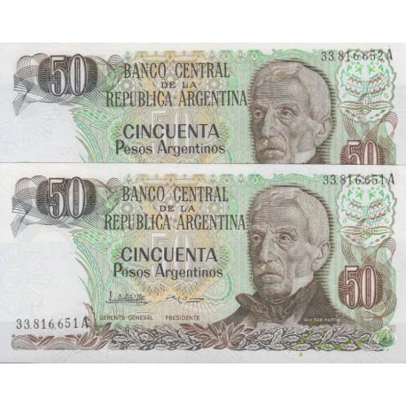 50 پژو آرژانتین (جفت بانکی)